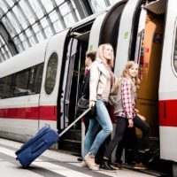 Anreise im Hauptbahnhof ICE